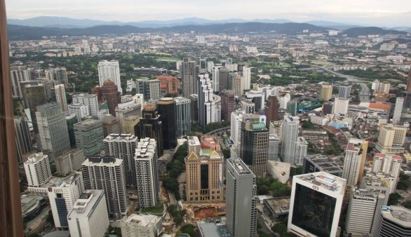 Ausblick vom Menara Kuala Lumpur Tower