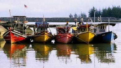 Boote bei Pulau Duyung